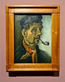 Vincent Van Gogh, Tête d'homme à la pipe, 1884-1885