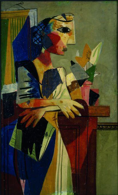 Roger Bissière, Femme au filet, 1936, Collection particulière, Paris © DR © ADAGP Paris 2014