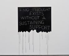 Mel Bochner, No Thought Exists Without A Sustaining Support, 1970