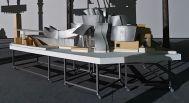 Solaris Chronicles - Frank Gehry, Musée Guggenheim de Bilbao, 1991-1997. Maquette finale. Echelle 1 : 50. Bois, peinture sur papier, vinyle, carton-mousse. 1120 x 5350 x 3600