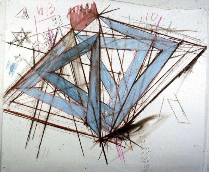 Tjeerd Alkema, Albi,1988, craie sur papier, collection du Musée Fabre