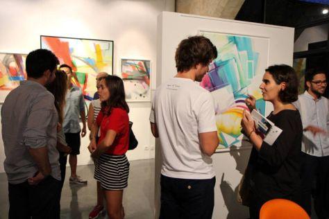 Vernissage, l'exposition Smash 137 Tilt Zest à la Galerie At Down. Photo Nicolas Pinelli
