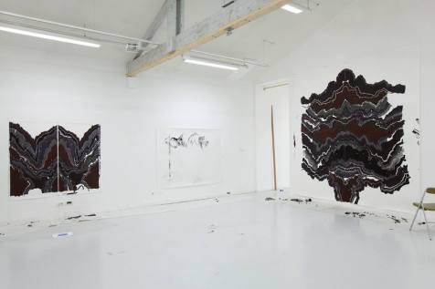 Abdelkader Benchamma -Fin de l'atelier provisoire École des Beaux arts Montpellier- Aout 2014 Crédit photo Gregoire Edouard