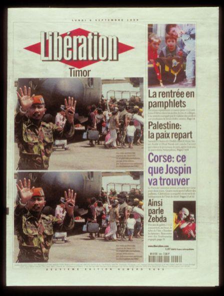 Pierre Bismuth, Newspaper - Timor, 1999