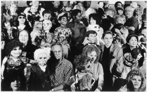 Asta Gröting, Convention / ces poupées qui disent oui 2, 2000, b/w photo, 224 x 129 cm  © VG Bild-Kunst, Bonn 2013, courtesy of the artist