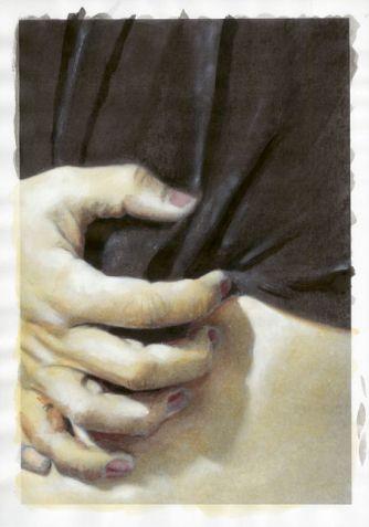 Fantômes 2012 – Extrait  du roman graphique Tout sera oublié - Actes-Sud 2013 – technique mixte sur impression laser - 29,7 x 42 cm - © Pierre Marquès