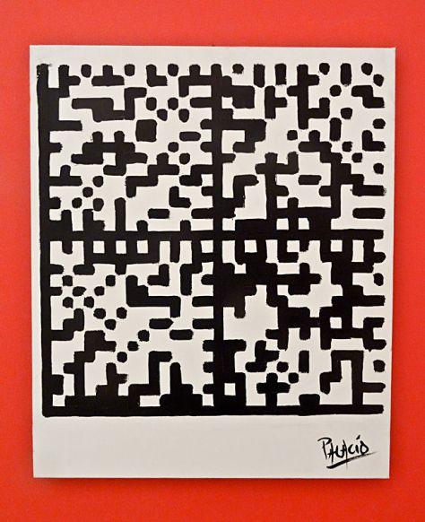 Patrice Palacio, Flashpainting, 2011. Huile sur toile, 55 x 46 cm. Collection de l'artiste