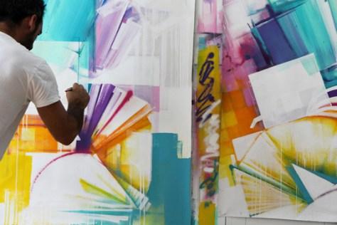 Zest dans son atelier, 2014. Photo :  Nicolas Pinelli- At Down