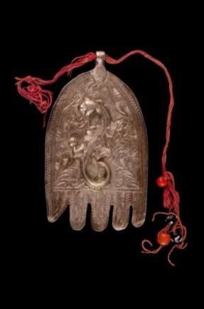 Plaque de poitrine, Main de Fatima, Lawha, Casablanca, Maroc, début du XXe