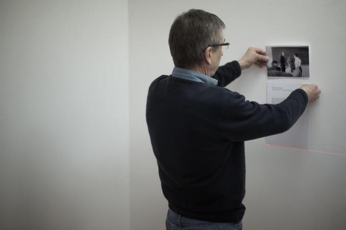 Accrochage exposition Francois Lagarde - Galerie ALMA 07