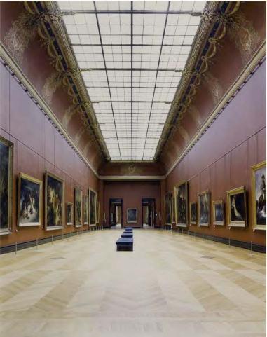 Candida Höfer Musée du Louvre Paris XVI, salle Mollien, Romantisme, 2005