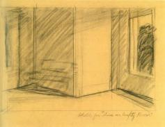 Edward Hopper Etude pour « Sun in an empty room », vers 1863
