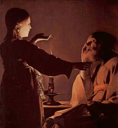 Georges De La Tour L'apparition de l'ange à Saint Joseph dit aussi le Songe de Saint Joseph, 1ère moitié du 17e siècle