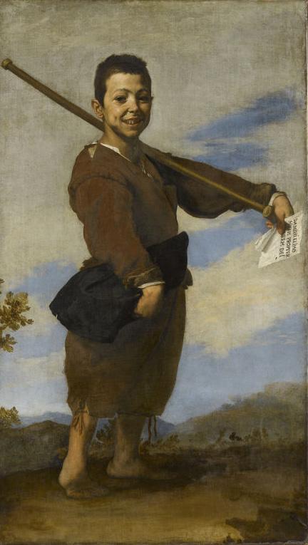1.Jusepe de Ribera, Le Pied-bot, 1642, huile sur toile, 164 x 93,5 cm, Paris, musée du Louvre, Photo © RMN-Grand Palais / Stéphane Maréchalle