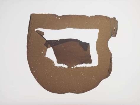 Drawing Room 015 - Galerie ALMA - Arnaud Vassieux , ans titre (encre flottante) 2015, goudron sur papier, 100 x 75 cm