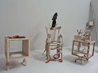 Paul Thek, Chair with crows and meat pieces, 1968