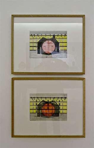 Georges Rousse, Guise 5 (Dessins préparatoires) ,2015 - « Collectionneur d'espaces » à Campredon