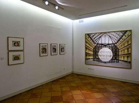 Georges Rousse, Guise (Cour du pavillon central) ,2015 - « Collectionneur d'espaces » à Campredon