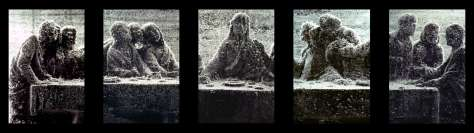 Andres Serrano, Black Supper I, II, III, IV, V, 1990. Collection Lambert.