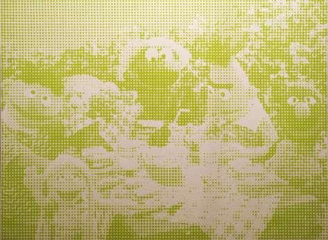 Loïc Raguénès, Muppets 2, 2006, sérigraphie sur feutre, 158 x 216 cm. Collection FRAC Languedoc-Roussillon. Photo © FRAC Languedoc-Roussillon
