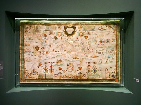 François Olive, Carte particulière de la mer Méditerranée, 1662 - Made in Algeria au MuCEM