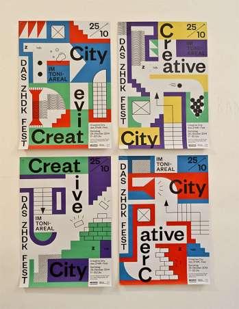 Badesaison, Affiches pour Creative City, 2014