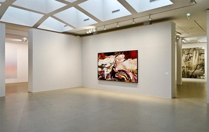 Adrian Ghenie, Isabelle Cornaro, Reproductions #9, 2015 et Christopher Wool, Sans titre, 2007 - Très traits à la Fondation Van Gogh Arles