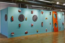 Les Avatars de Cédric Teisseire, la Vasque de Pascal Pinaud et les tondo de Xavier Theunis… Serial Painter à la Galerie du 5ème, Marseille - Photo : J.C. Lett ©jcLett