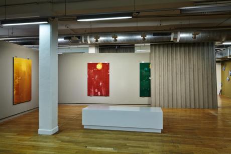 Les Test'arts de Pascal Pinaud et les plaques de tôle ondulée de Xavier Theunis… Serial Painter à la Galerie du 5ème, Marseille - Photo : J.C. Lett ©jcLett