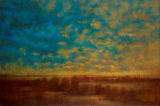 Albert Woda, Sur la brise se pose les couleurs, 2015. Huile sur toile, 80 x 120 cm. © Marc Gourmelon ADAGP Paris 2016
