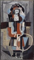 Pablo Picasso, Fillette au cerceau, 1919 Huile et sable sur toile 142,5 x 79 cm / AM 4312P Centre Pompidou MNAM-CCI, Paris / Photo © Centre Pompidou, MNAM-CCI, Dist. RMN-Grand Palais / Philippe Migeat © Succession Picasso 2016
