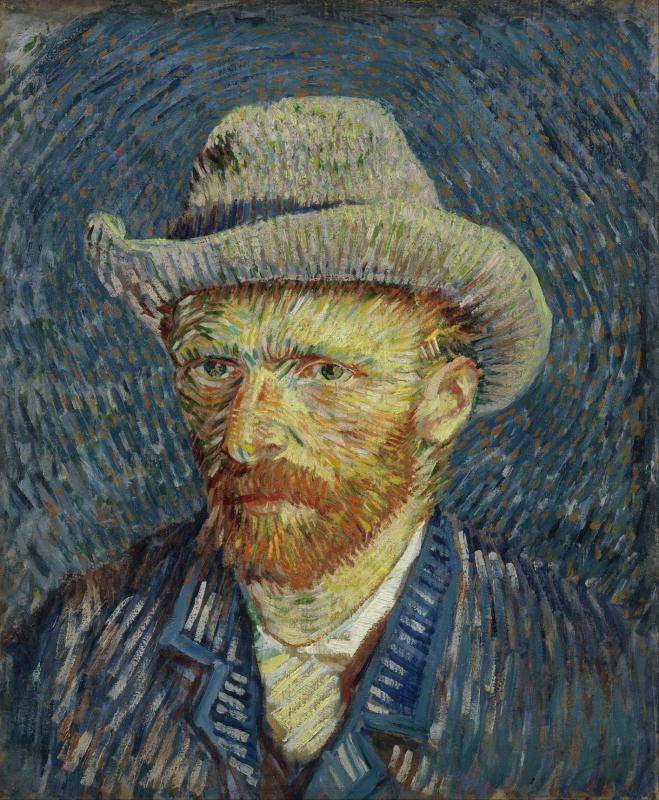 Vincent van Gogh, Autoportrait en chapeau de feutre, 1887. Huile sur toile, 44,5 x 37,2 cm Van Gogh Museum, Amsterdam (Vincent van Gogh Foundation)