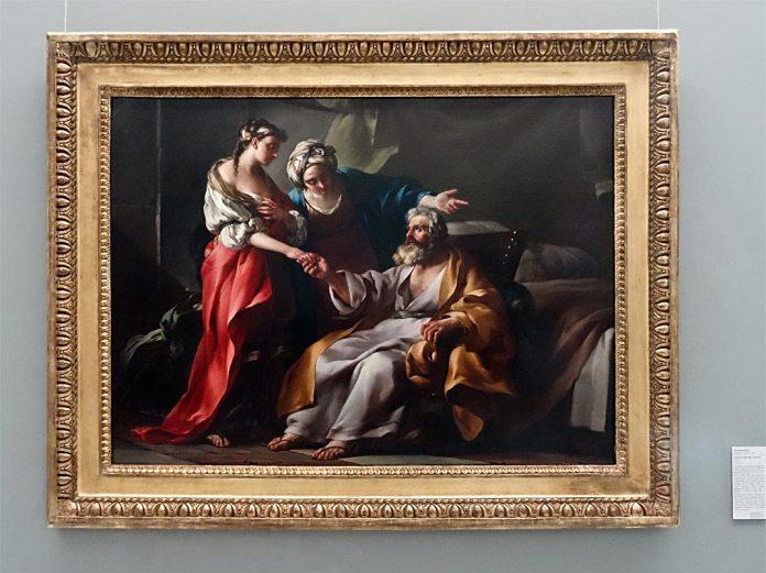 Joseph-Marie Vien, Sarah présentant Agar à Abraham, 1749 - Musée Fabre Nouvelles Acquisitions