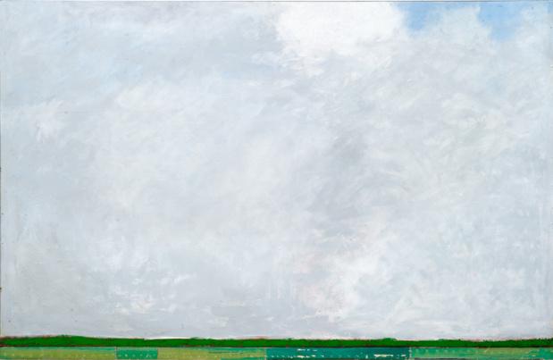 Pierre Buraglio, Embellie I, 2013. Peinture sur contreplaqué — 130 × 195 cm. Courtesy of the artist & Galerie Jean Fournier, Paris — Photo © Alberto Ricci