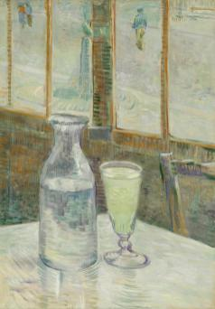 Vincent van Gogh, Table de café et absinthe, 1887. Huile sur toile, 46,3 x 33,2 cm Van Gogh Museum, Amsterdam (Vincent van Gogh Foundation)