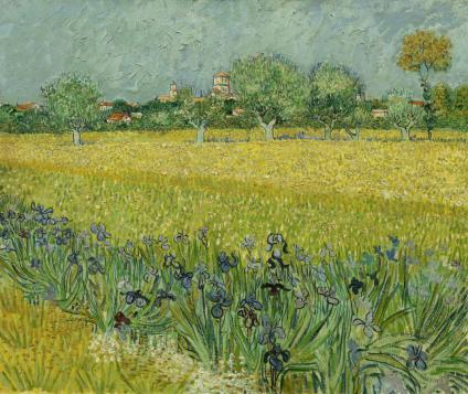 Vincent van Gogh, Vue d'Arles avec des iris au premier plan, 1888. Huile sur toile, 54 x 65 cm Van Gogh Museum, Amsterdam (Vincent van Gogh Foundation)