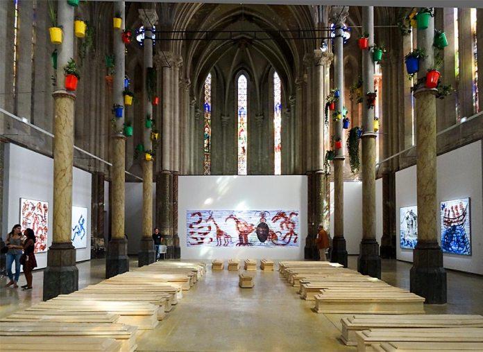 Barthélémy Toguo, Déluge - Carré Sainte-Anne - Montpellier- vue de l'exposition 02