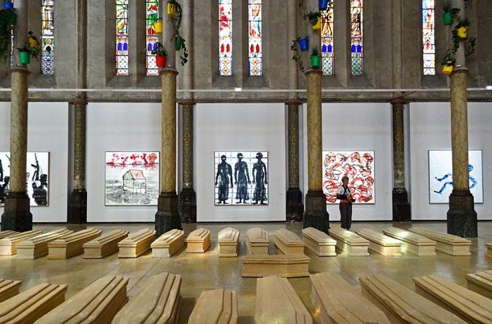 Barthélémy Toguo, Déluge - Carré Sainte-Anne - Montpellier- vue de l'exposition