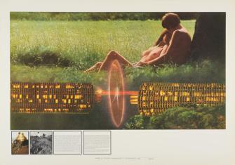 Superstudio, Gli Atti Fondamentali : Amore Supersurface, 1971. Collection Frac Centre, Orléans, Dépôt © François Lauginie photographe