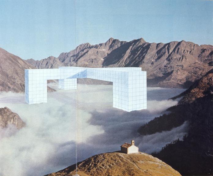 """Superstudio, Monumento Continuo, 1969, """"Un Lago di nuvole tra eterne montagne"""". Collection Frac Centre, Orléans © Francçois Lauginie photographe"""