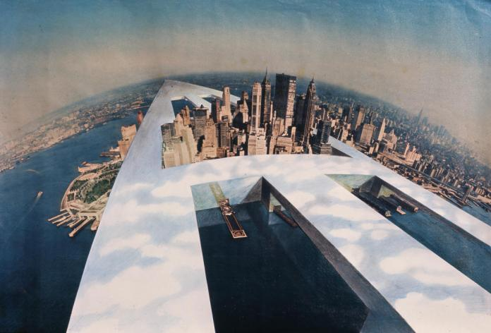 Superstudio, Monumento Continuo, New New York, 1969, Archive Superstudio, Florence © Cristiano Toraldo Francia, photographe