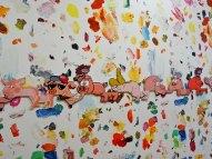 Urs Fischer, lineofpigs, 2016 - «Mon cher…» à la Fondation Vincent van Gogh Arles. Aluminium, époxy, acier, apprêt acrylique, enduit, encre acrylique, médium acrylique pour sérigraphie, peinture acrylique / Aluminium, epoxy, steel, acrylic primer, gesso, acrylic ink, acrylic silkscreen medium, acrylic paint EA d'une édition de 2 & 1 EA / AP of Edition of 2 & 1 AP Collection privée / Private collection