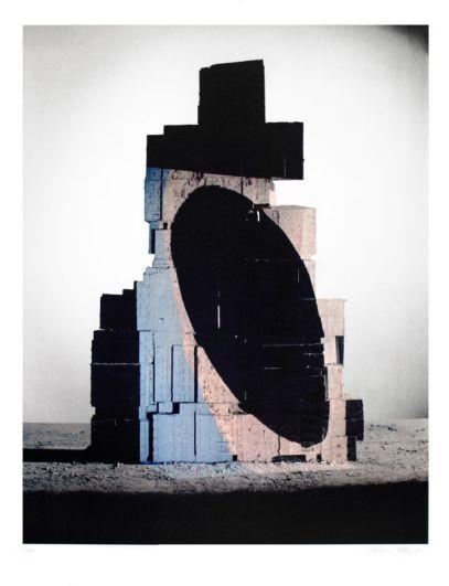 Patrick Tosani, La concordance des noirs, 2016 Impression lithographique sur papier Vélin BFK Rives blanc 99 x 77 cm Imprimeur : Atelier Arcay, Paris FNAC 2016-0097 © ADAGP, Paris, 2016
