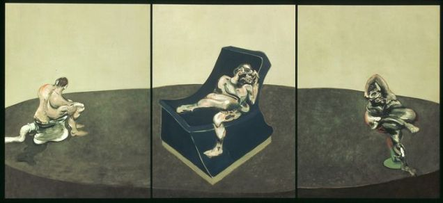 Francis Bacon - Three Figures in a Room (Trois personnages dans une pièce), 1964 / Photo © Centre Pompidou, MNAM-CCI / Dist. RMN-GP © The Estate of Francis Bacon / All rights reserved / Adagp, Paris and DACS, Londres