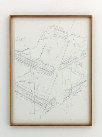 Keita Mori- Bug report, 2016, fil de coton et fil de soie sur papier, 76 x 56 cm - Photo Iconoscope Montpellier