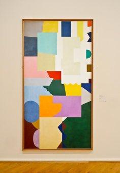 Shirley Jaffe, Sans titre, 1972. Huile sur toile, 255 x 135 cm. – Musée Cantini, Marseille