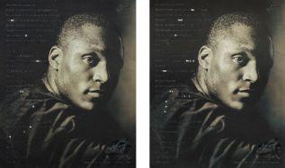 Natalie Czech, A poem by repetition by Vsevolod Nekrasov #2, 2015, 2 tirages au pigment d'archive, 65,5 x 106 cm. © Natalie Czech
