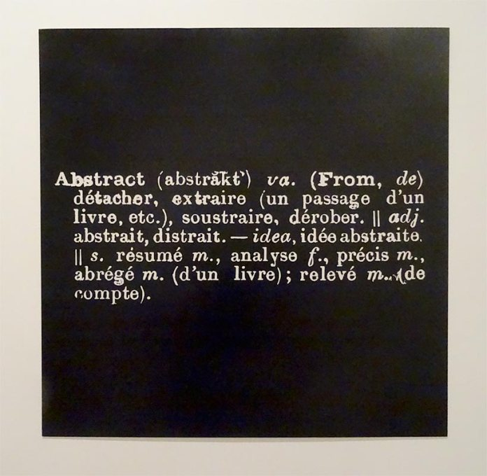 Joseph Kosuth, Statement Abstract, 1969, blow up, 115 x 115 cm