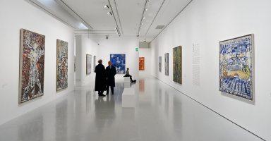 François Rouan, Tressages 1966-2016 au musée Fabre - Vue de l'exposition 04
