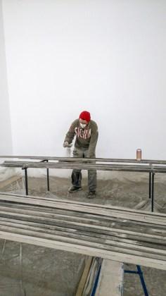 """Fabrice Leroux, en préparation - photo """"Résidence lignes de vie"""""""